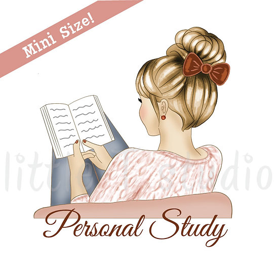 Personal Study Mini Size Stickers - Light Skin, Blonde Hair - Style 424M