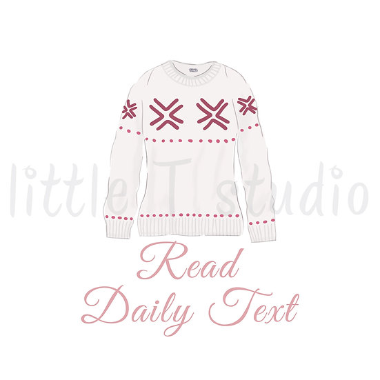 Read Daily Text Reminder Stickers - Warm Winter Sweater - Style 1137 or 329M