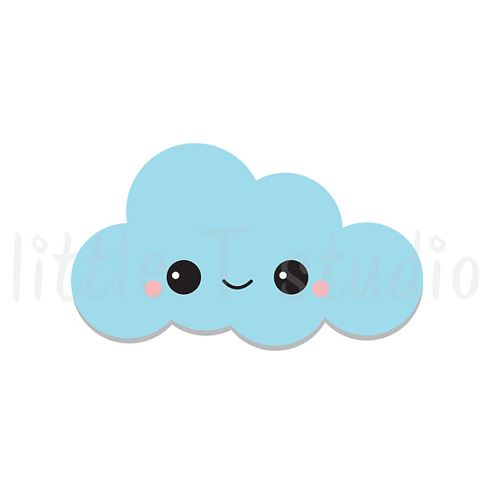 Kawaii Stickers - Happy Clouds - Style 033-K