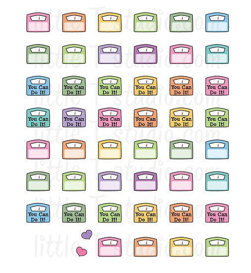 Weigh Scale Mini Stickers - Style 028M