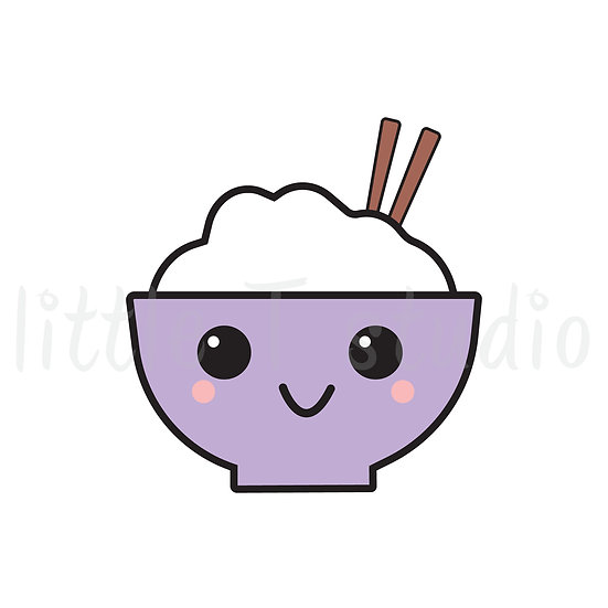 Kawaii Stickers - Rice Bowl - Style 003-K
