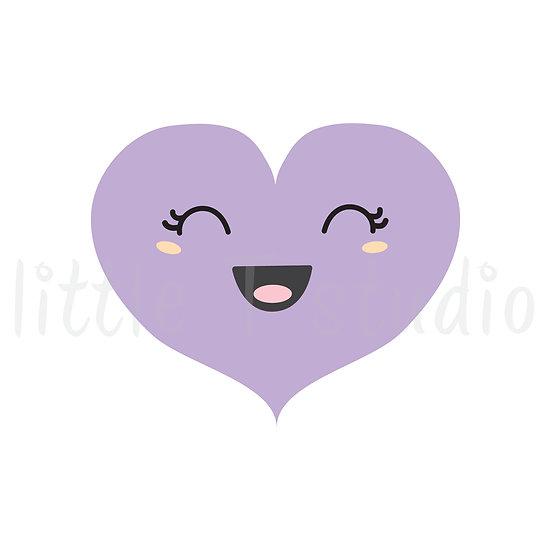 Kawaii Style Heart Stickers Regular Size - Style 1142