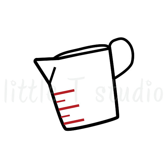 Measuring Cup Baking Mini Size Icon Stickers - Style 143M