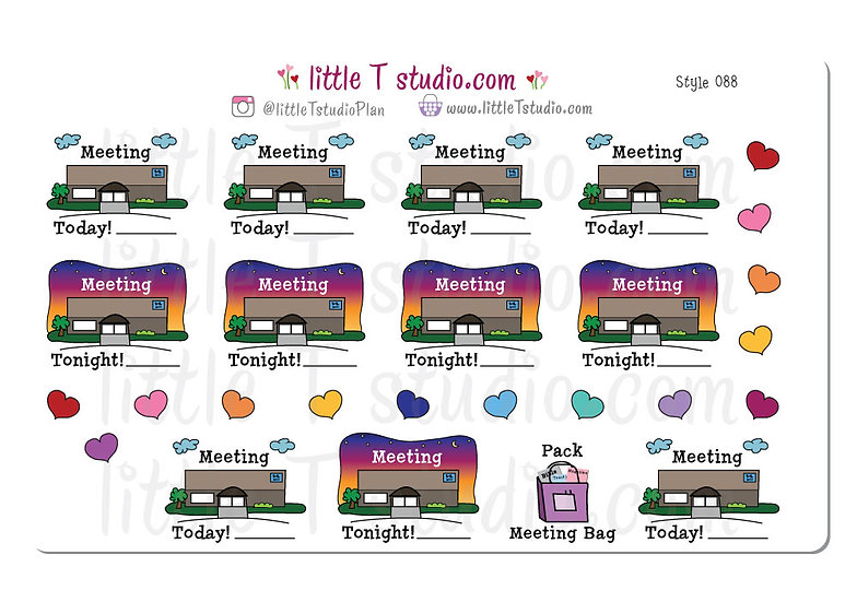 Meeting Day and Evening Reminder - Style 088