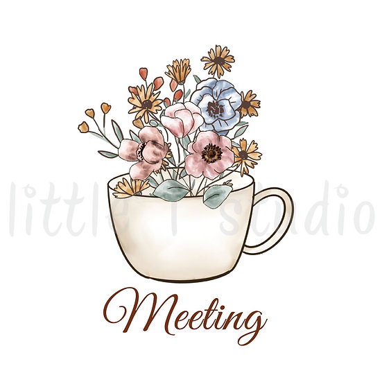 Floral Meeting Stickers - Style 1093