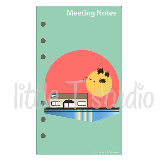 Personal Size Dashboard Print-Ready PDF - Meeting Notes - Personal Use Only