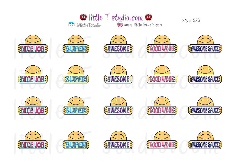 Reward Stickers - Awesome Sauce - Good Work - Style 536