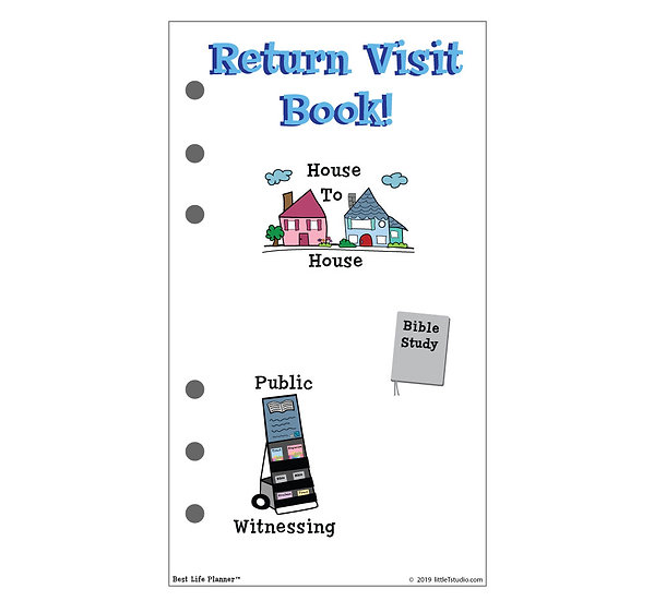 Personal Size Return Visit Book - Printable PDF - Non Girly