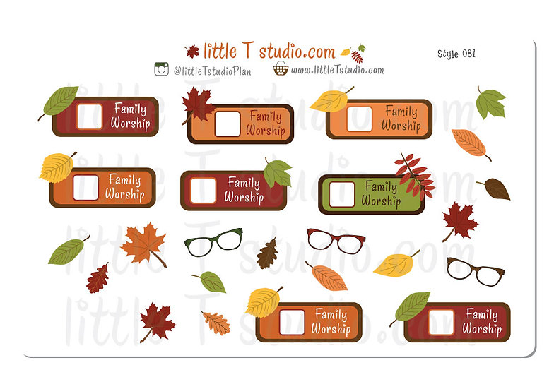 Family Worship Fall Themed Reminder - Style 081