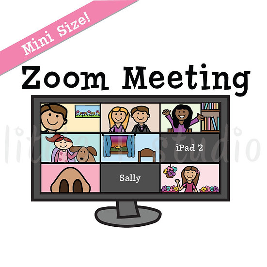 Zoom Meeting Reminder Mini Size Stickers - Style 186M