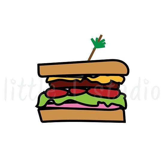 Sandwich Mini Size Reminder Icon Stickers - Style 132M