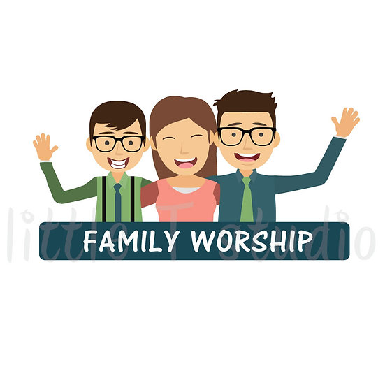 Family Worship Stickers - Style 1050