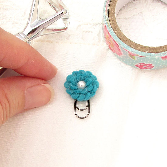 DIY Kit - Micro Mini Felt Flower Bookmark - Pick Your Favorite Color!