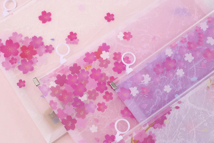 Sakura Cherry Blossoms Letter Writing Stationery Pouches