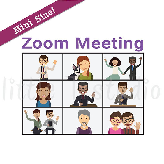 Zoom Meeting Reminder Mini Size Stickers - Style 188M