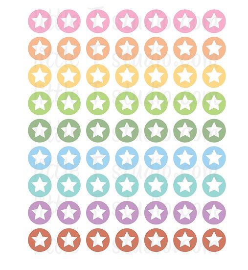 Star Icon Micro Mini Stickers - Style 069M