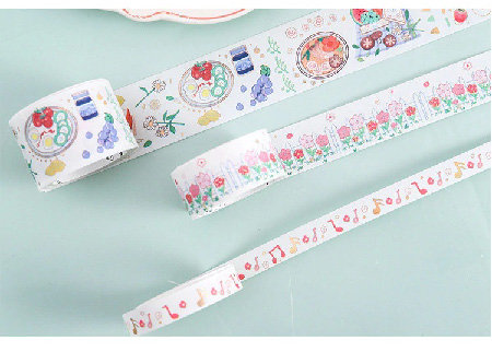 Washi Tape - Gold Foil Country Picnic - Set of 5 Rolls