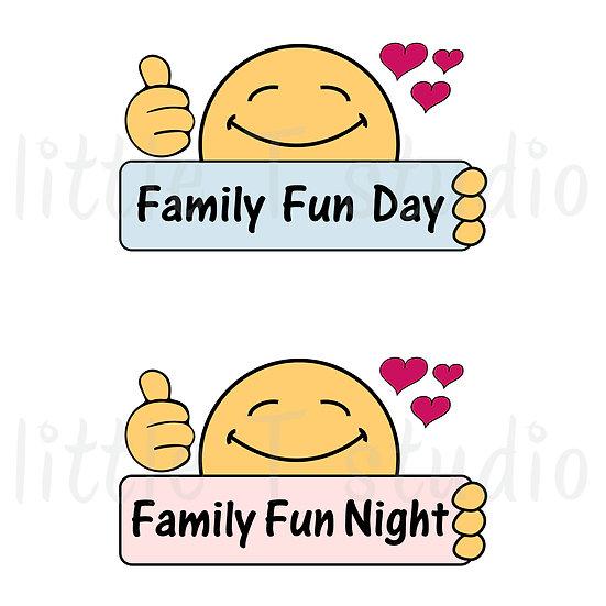 Family Fun Day, Family Fun Night - Style 573