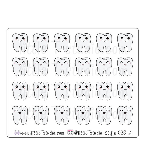 Kawaii Stickers - Dentist Appointment - Style 025-K