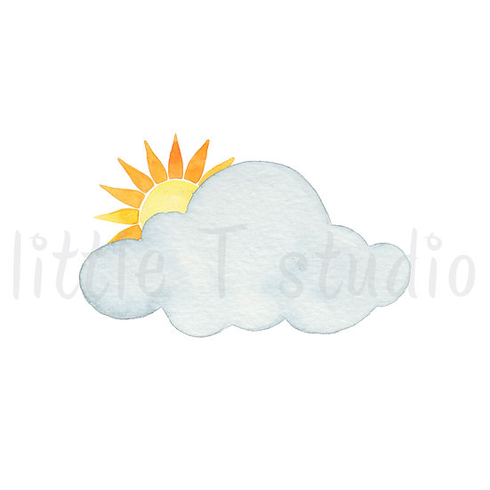 Mostly Cloudy Stickers - Style 457M or 473M