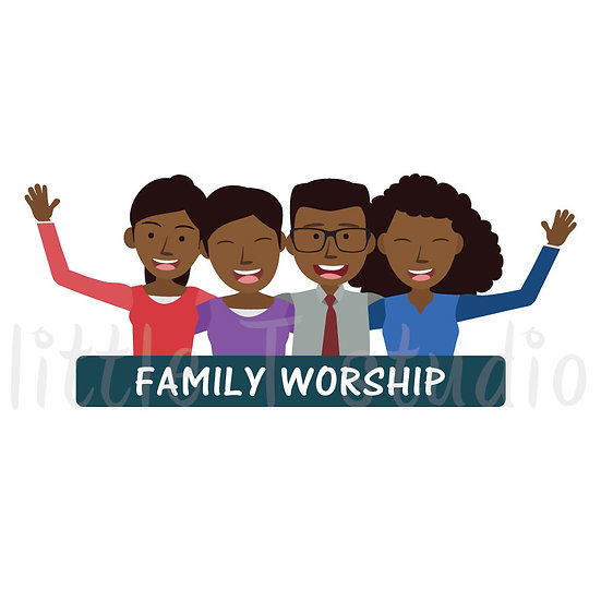 Family Worship Stickers - Style 1046