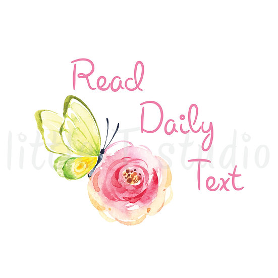 Read Daily Text Reminder Spring Butterfly Stickers - Style 671