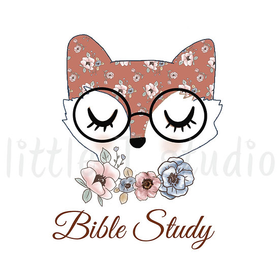 Floral Fox Bible Study Stickers - Style 1092