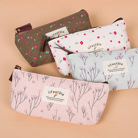 Vintage Floral Lifestyle Pencil Case