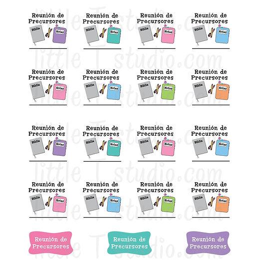Reunión de Precursores Reminder Mini Stickers - Style 050M
