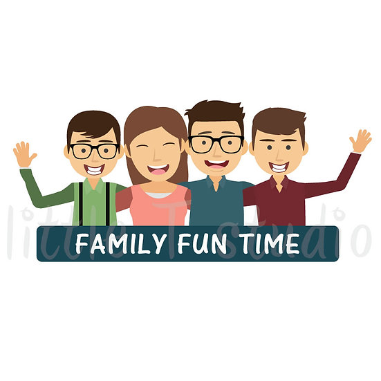 Family Fun Time Stickers - Style 1048