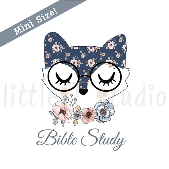 Floral Fox Bible Study Mini Size Stickers - Style 434M