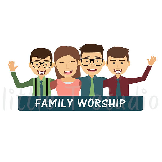 Family Worship Stickers - Style 1047