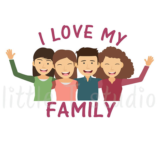 I Love My Family Stickers - Style 1054