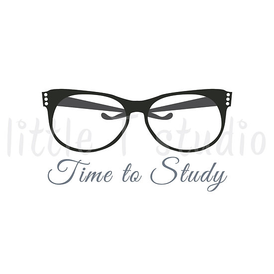 Time to Study Glasses Stickers - Style 1133 or 325M