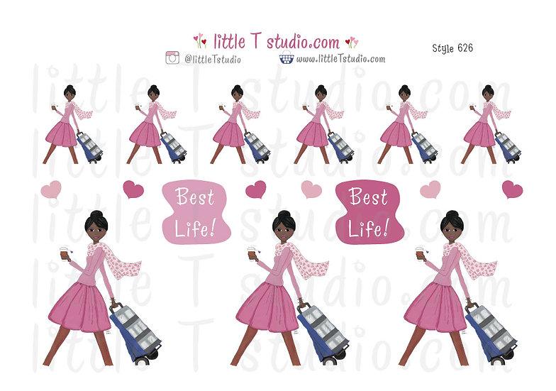 Cart Witnessing Girl - Style 626