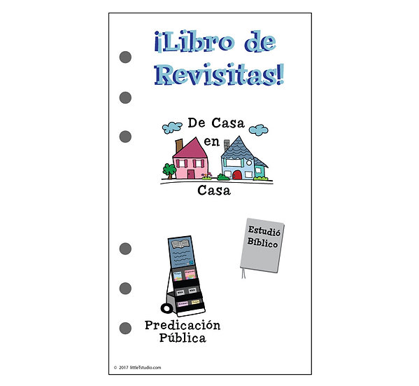 Personal Size Libro de Revisitas Refill Sheets - Printable PDF - Non Girly