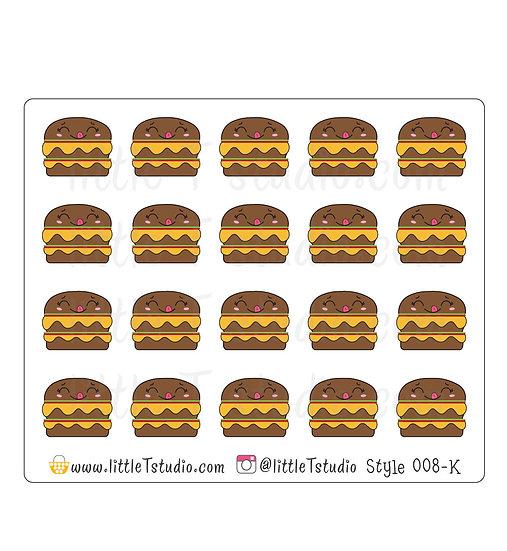 Kawaii Stickers - Cheeseburger - Style 008-K