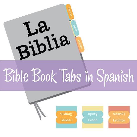 Print-Ready Bible Book Tabs in Spanish