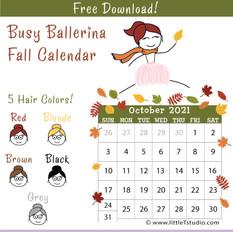 October 2021 Mini Calendar