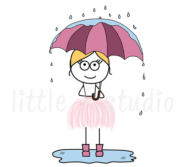 Busy Ballerina - Rainy Day/Sunny Day Weather or Mood Stickers - Style 207