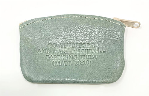 Change Purse - Leather - English Embossed Quotes