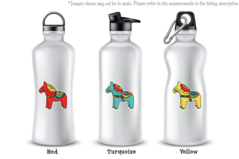 Dala Horses - Vinyl Decal Matte Finish - Pick Your Favorite Colors!