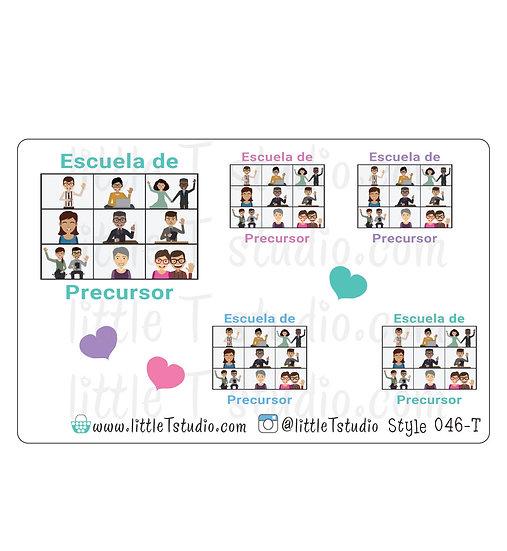 Escuela de Precursor Stickers - Gift Giving Size - Style 046-T