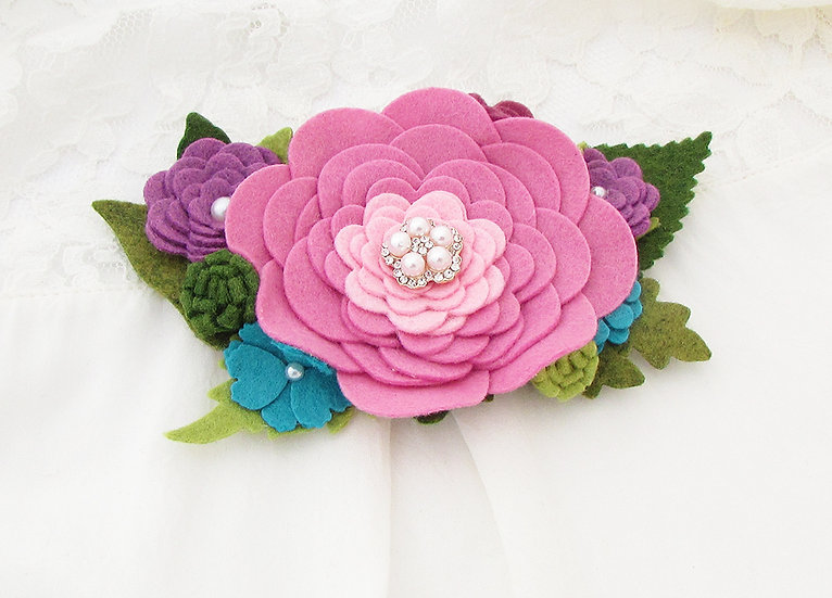 The Windsor Collection - Pink Pearl Crown