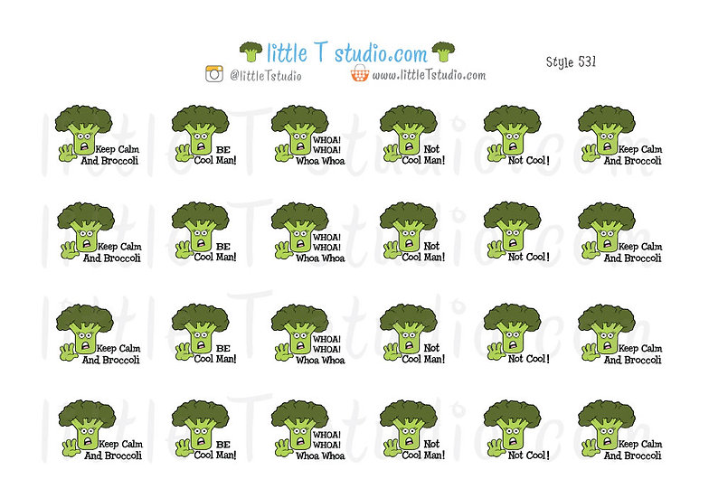 Because Broccoli Tells it Like it is - Joys of Life Stickers - Style 531