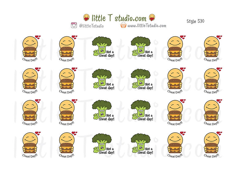 Joys of Life Cheat Day / Not a Cheat Day Stickers - Style 530