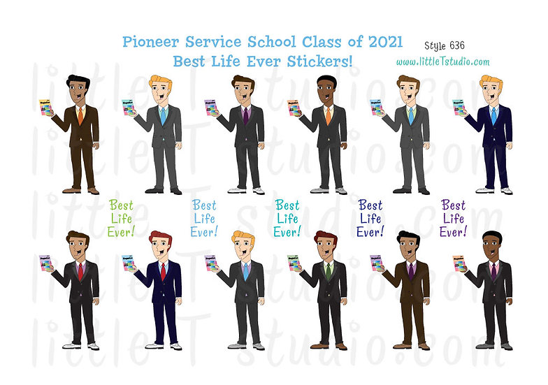 2021 Pioneer Service School Best Life Stickers - Style 636