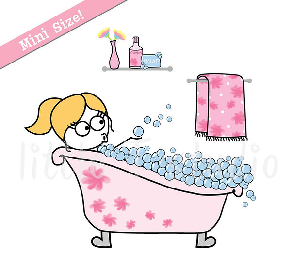 Busy Ballerina Mini Size - Bath Time, Me Day Stickers - Style 224M