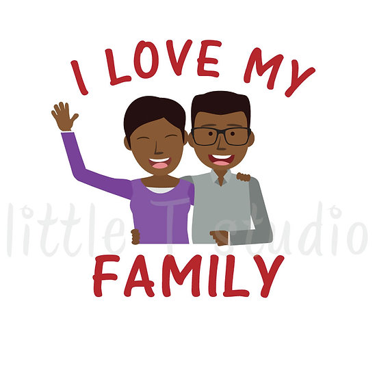I Love My Family Stickers - Style 1062
