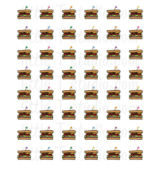 Sandwich Mini Size Reminder Icon Stickers - Style 132M